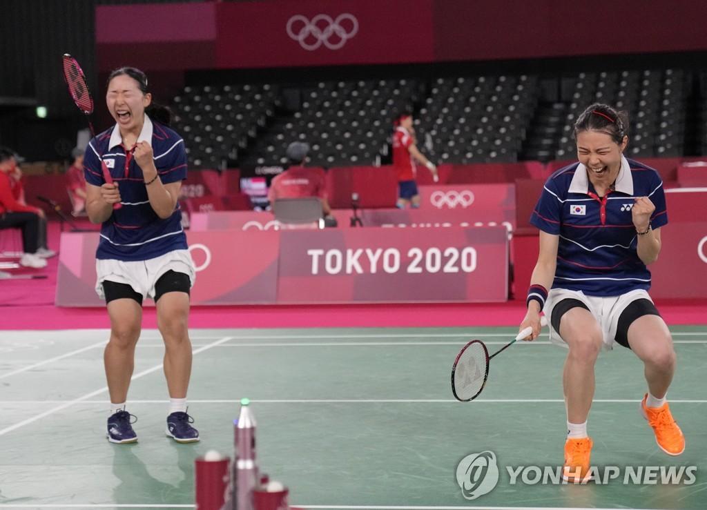 """[올림픽] '일본에 짜릿한 뒤집기' 배드민턴 '킴콩' """"서로 믿었다"""""""