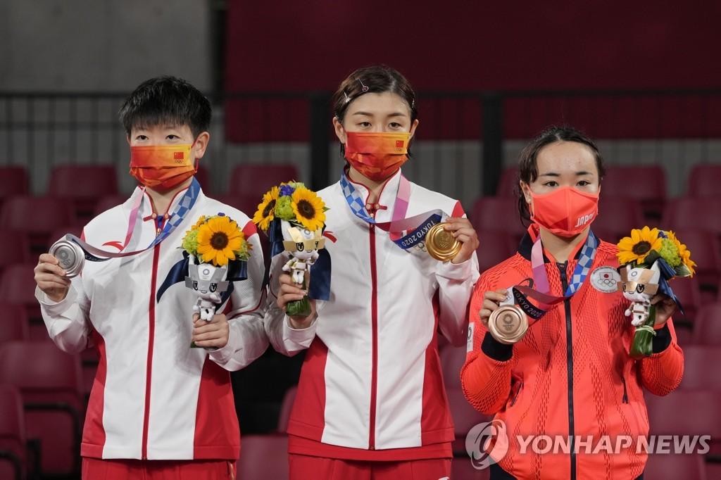 -올림픽- 중국 탁구, 여자단식 9연패 위업…새 여왕은 천멍
