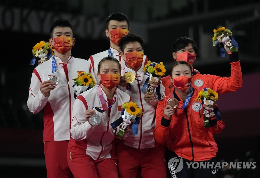 -올림픽- 배드민턴 혼합복식서 중국 金·銀…일본이 동메달