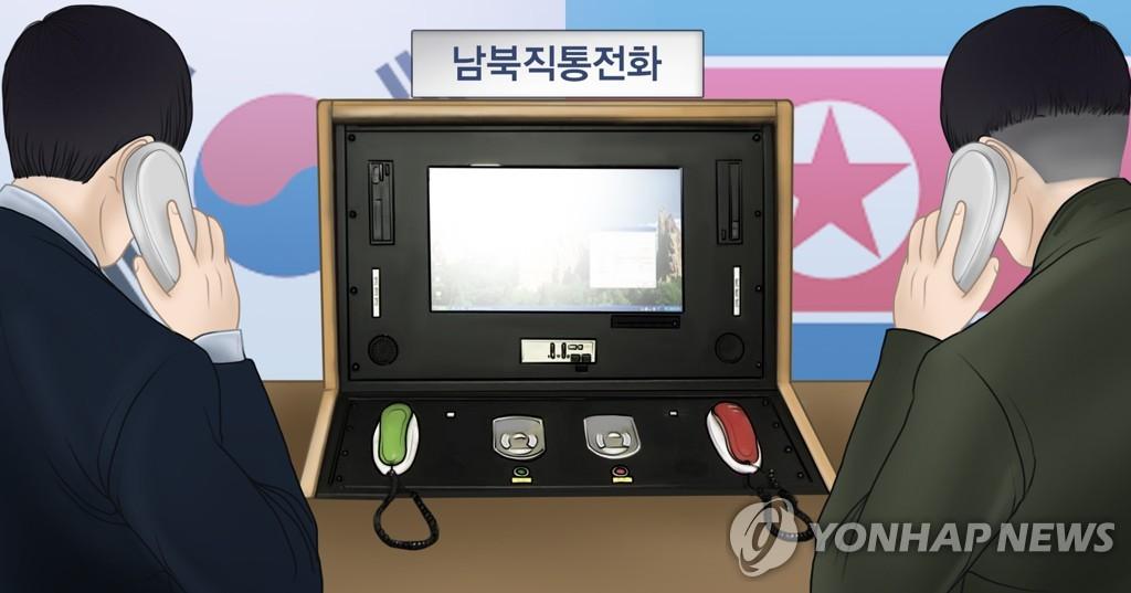 """남북정상 """"하루속히 관계진전""""…연락선 13개월만에 전격 복원(종합2보)"""