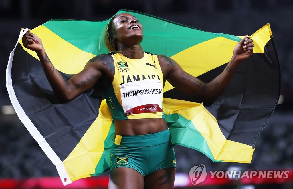 -올림픽- '10초61' 톰프슨, 조이너의 올림픽 기록 넘어서며 100m 2연패(종합)