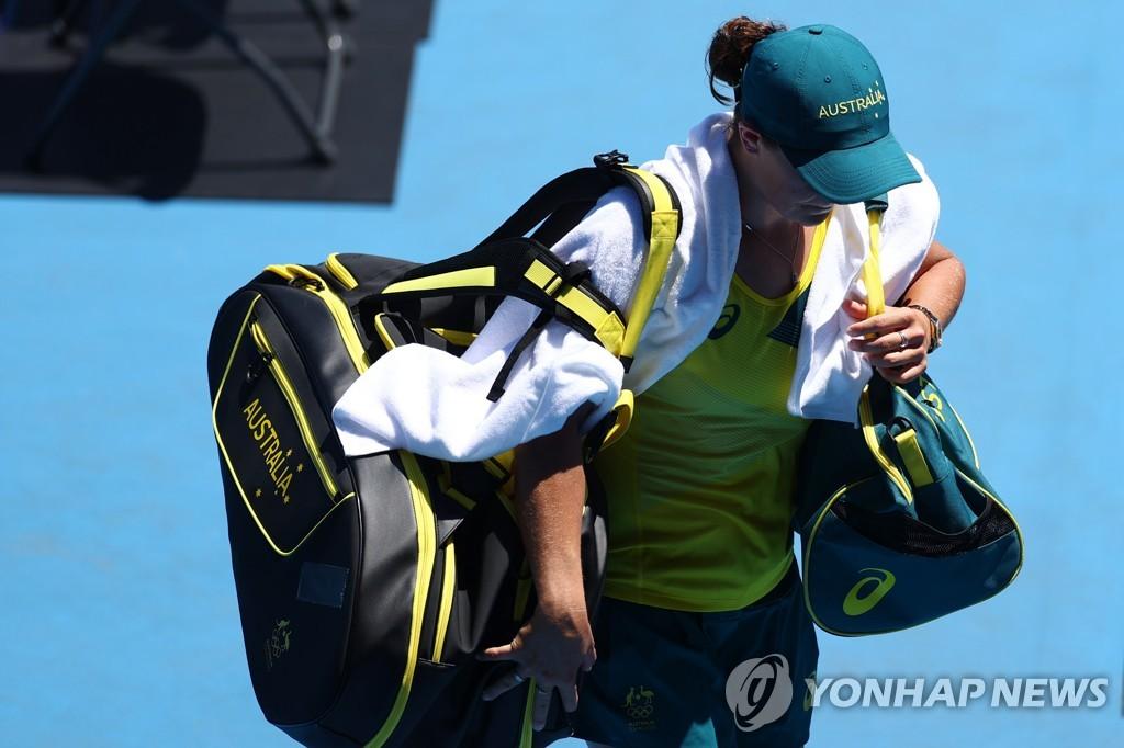 -올림픽- 성화 점화자 오사카, 테니스 1회전 통과