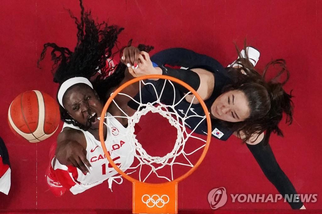 -올림픽- 한국 여자농구, 세계 4위 캐나다에 21점 차로 져 2연패