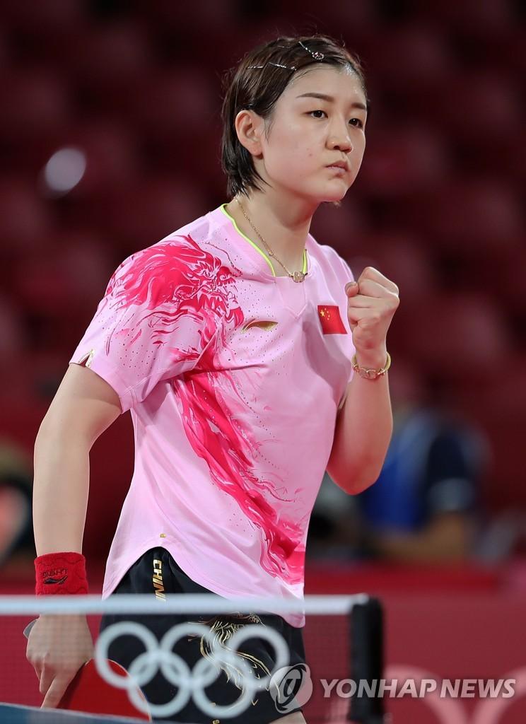 -올림픽- 혼복 우승 내준 중국 탁구, 여자단식 金·銀 확보