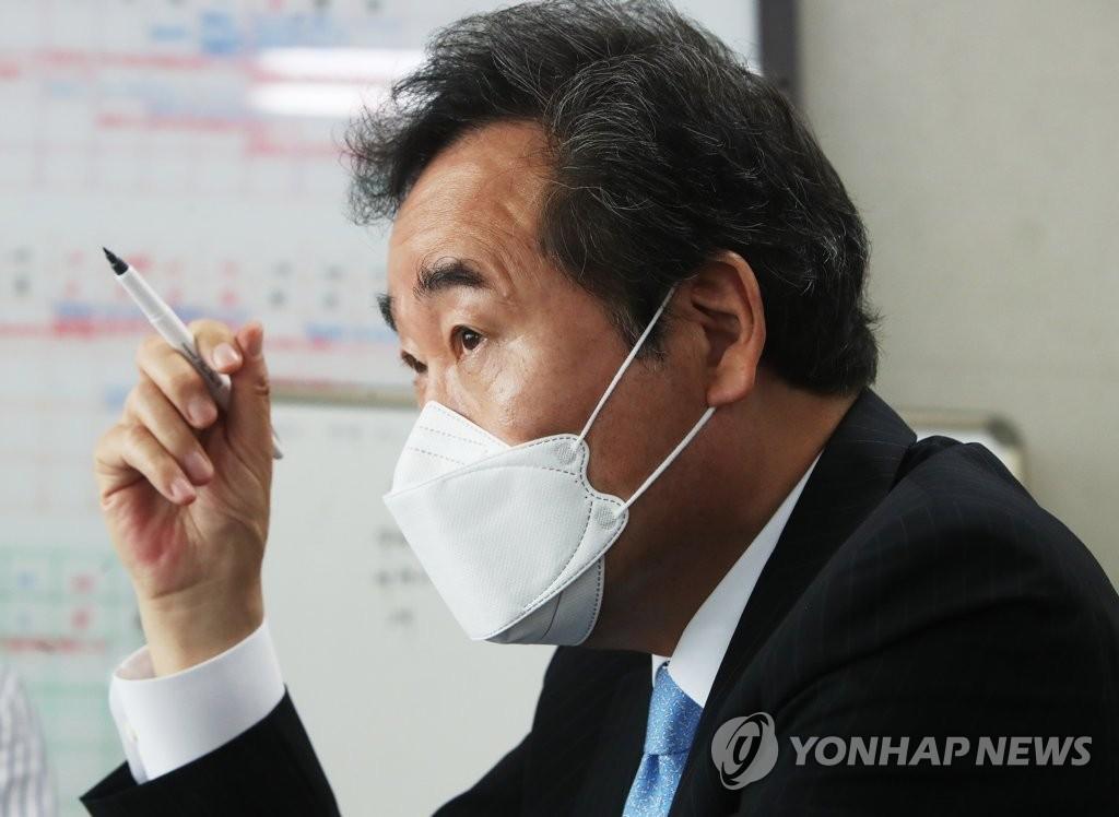 """이낙연, '尹 본인 검증에 제한' 이재명에 """"가족도 엄중 검증"""""""