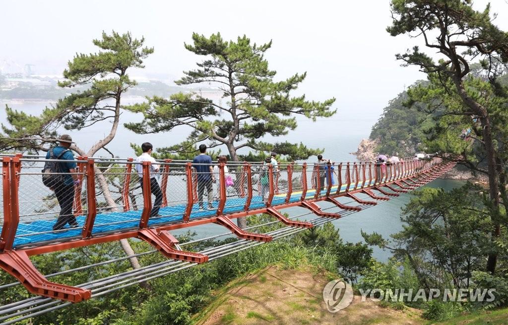 울산 대왕암공원 출렁다리 방문객 10만명 돌파