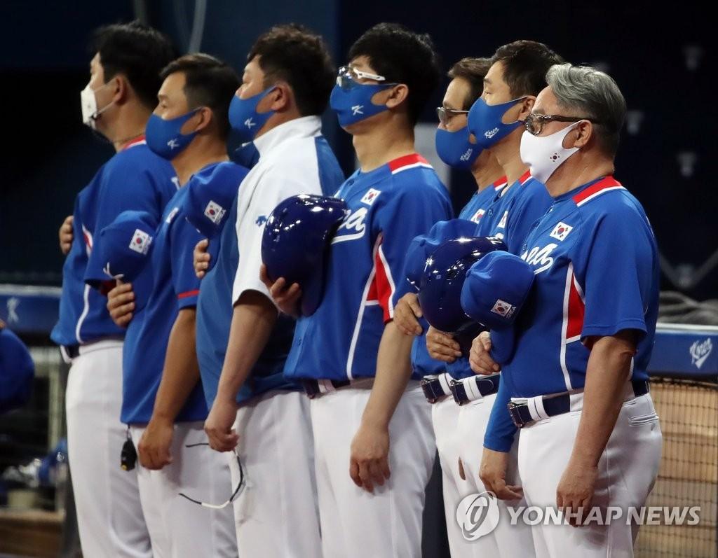 [올림픽] '침묵한 타선' 야구 대표팀, LG와 힘겨운 2-2 무승부