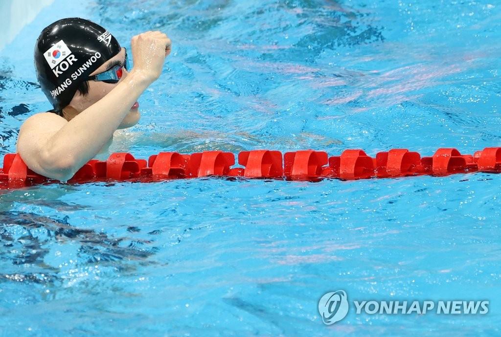 -올림픽- 황선우, 자유형 200m 6위로 결승 진출…박태환 이후 9년만