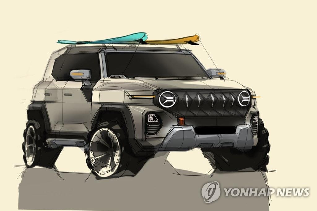 쌍용차, 차세대 SUV KR10 디자인 스케치 선보여