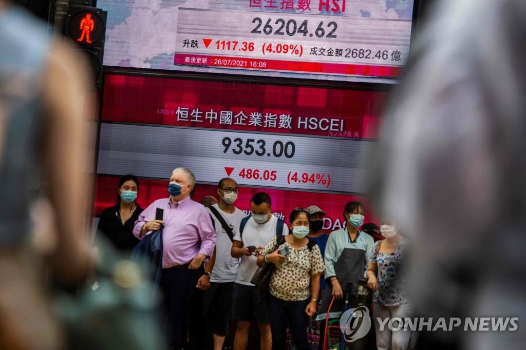 중국·홍콩 증시 '공황매도' 일단 주춤…상하이 약보합 마감(종합)