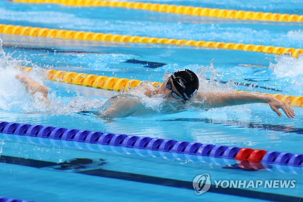 -올림픽- 황선우, 자유형 100m 아시아신기록 및 4위로 결승 진출(종합)