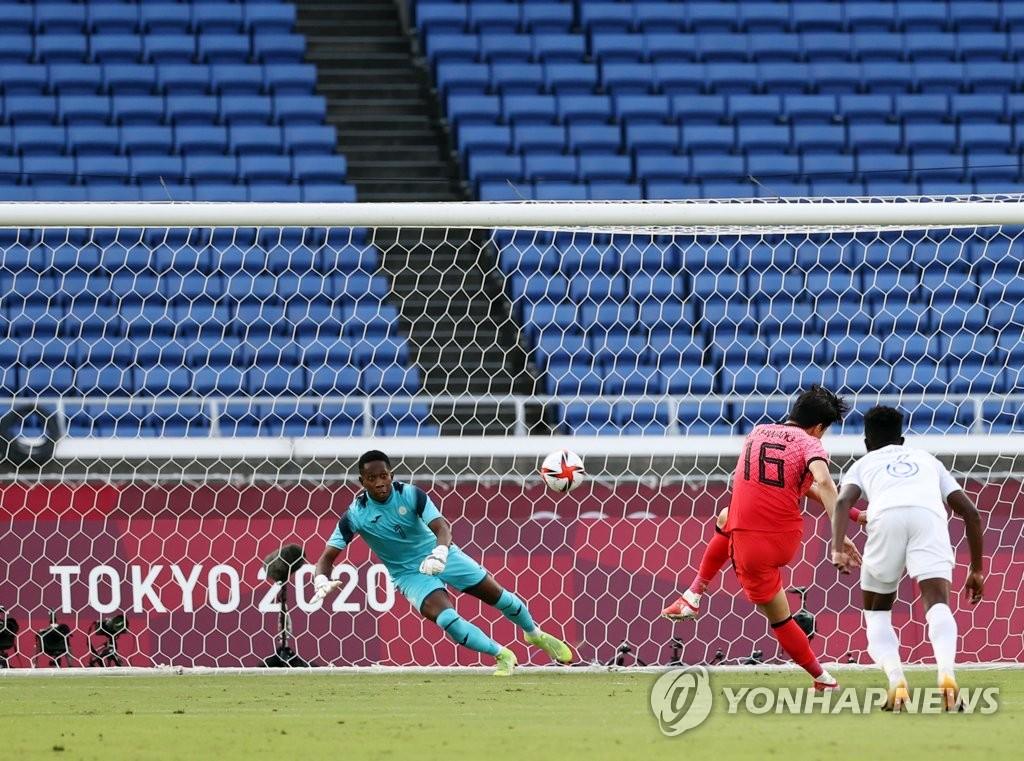 -올림픽- '황의조 멀티골' 한국, 온두라스에 3-0 리드 '전반 종료'