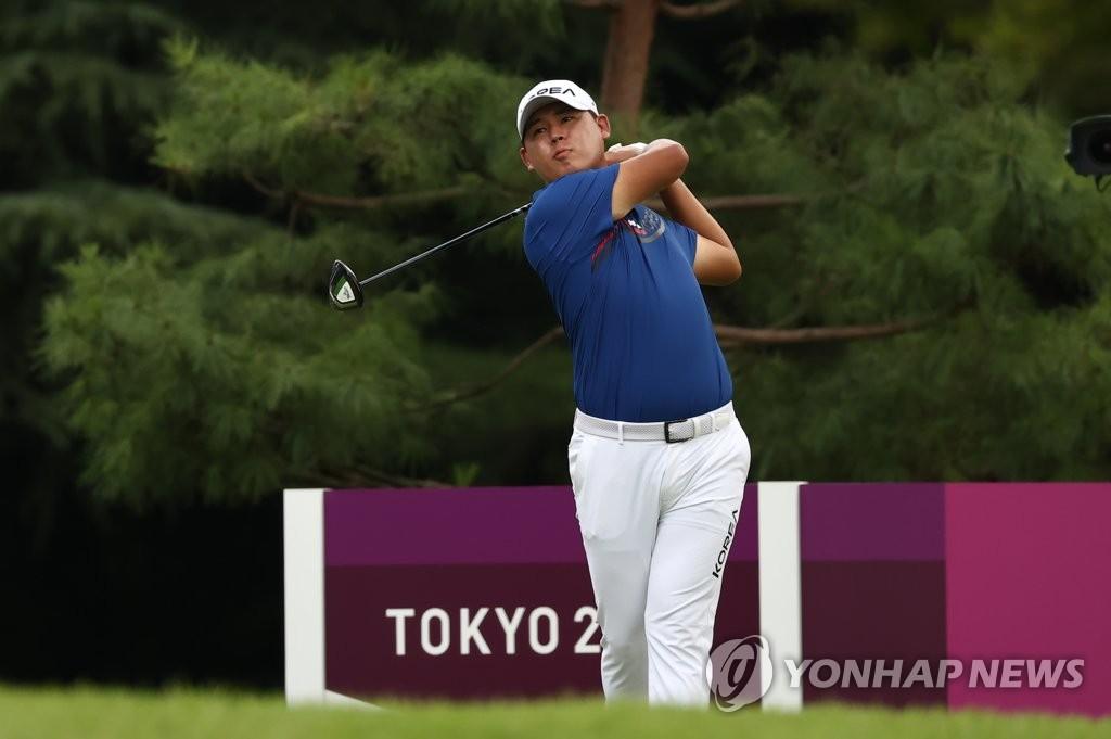 -올림픽- 김시우, 남자골프 2R 공동 25위…선두와 8타 차