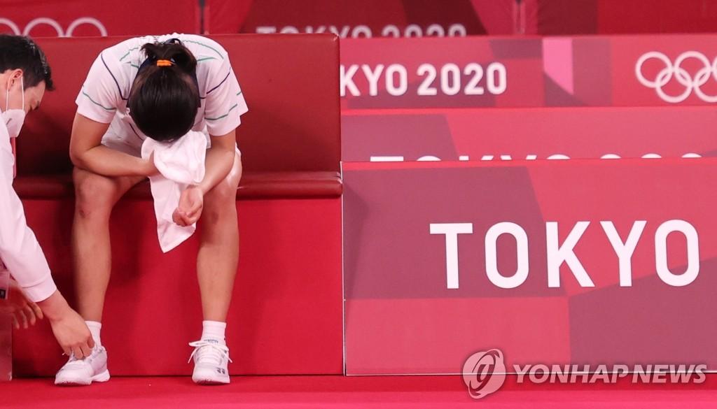 """[올림픽] 하루도 안 쉰 '라켓소녀의 눈물'…안세영 """"계속 도전할게요"""""""