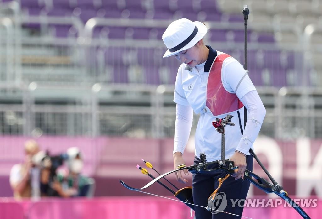 """[올림픽] 끝내 눈물 삼킨 '에이스'…""""파리에선 다시 강한 강채영으로"""""""