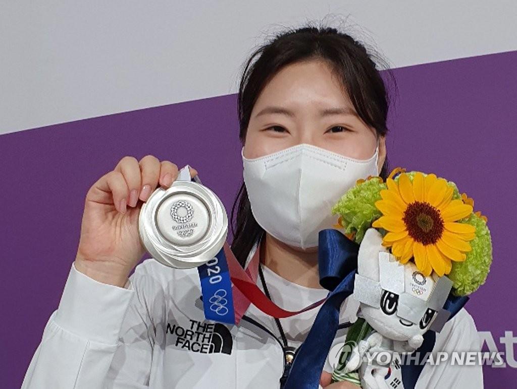 -올림픽- 양궁 안산, 대회 첫 3관왕…사격·펜싱서 은·동 추가(종합)