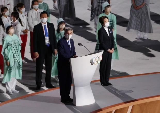 축사하는 토마스 바흐 IOC 위원장 / 사진=연합뉴스