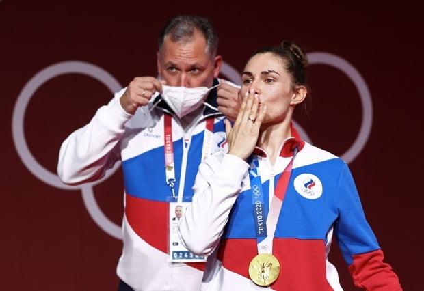러시아 올림픽 선수단이란 이름으로 2020 도쿄 올림픽에 출전한 선수들/사진=TASS