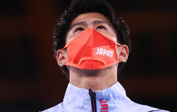 도쿄올림픽 남자 체조 개인종합에서 금메달을 딴 일본 하시모토 다이키. 사진=REUTERS