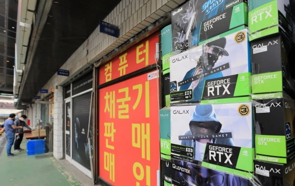 서울 용산전자상가의 한 컴퓨터 부품 취급 매장. 사진=뉴스1