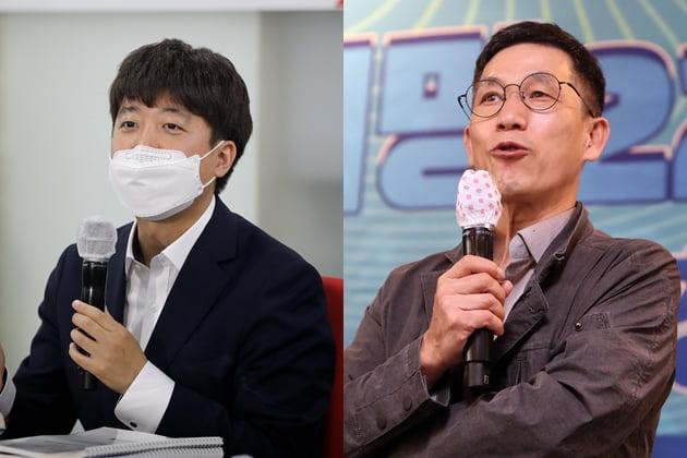 이준석 국민의힘 대표, 진중권 전 동양대 교수 /사진=연합뉴스