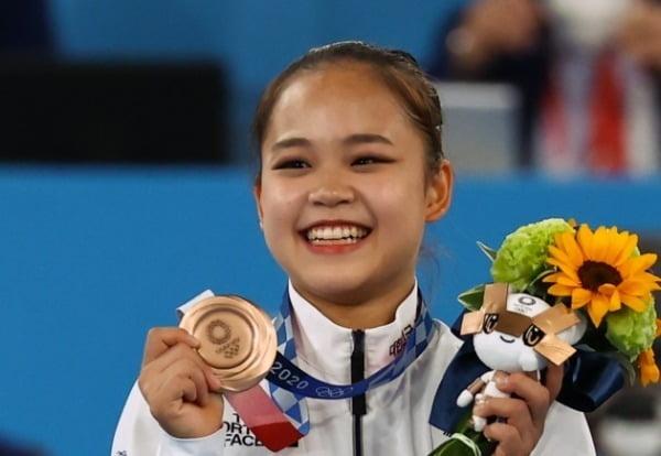 도쿄 올림픽 기계체조 도마 종목에서 동메달을 딴 여서정 선수. 사진=연합뉴스