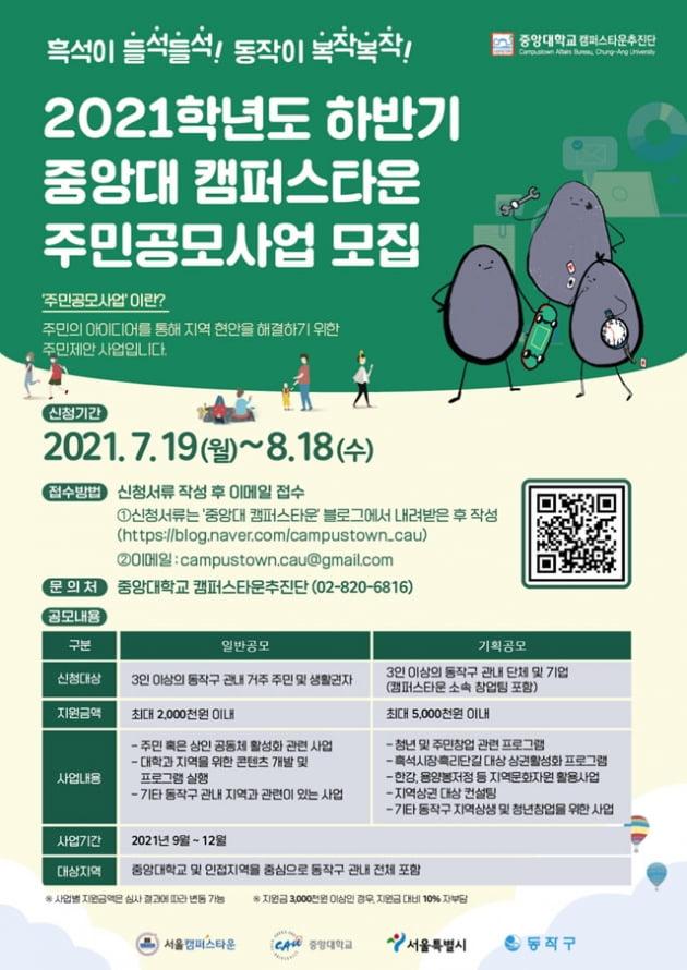 중앙대 캠퍼스타운, 동작구 현안 해결을 위한 '하반기 주민공모사업' 참가자 모집