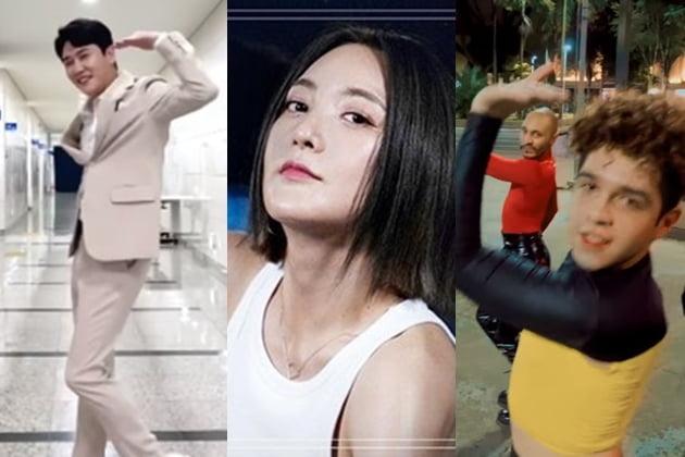 에스파 '넥스트 레벨'을 커버하고 있는 가수 영탁, 바다, 브라질 댄스팀 B2 Dance group /사진=SNS 및 유튜브