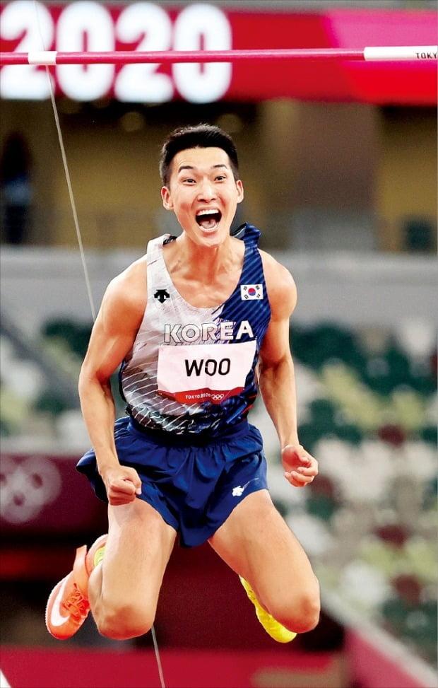 [포토] 우상혁, 높이뛰기 한국新…육상 트랙&필드 첫 4위