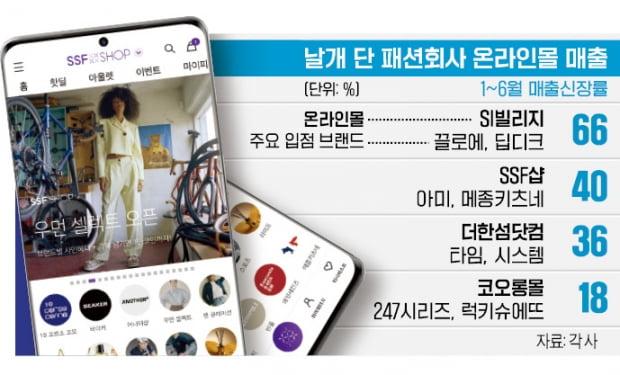 """전통 패션 강자들의 반격…""""온라인몰로 승부"""""""