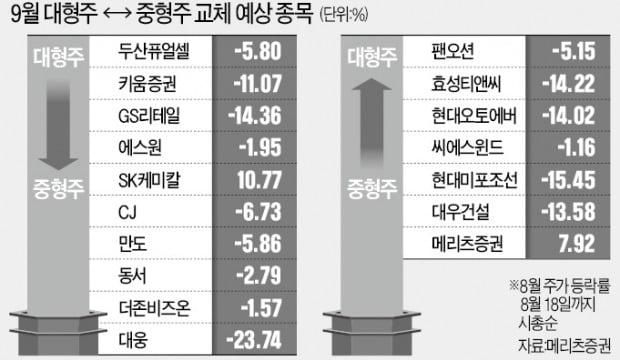 """""""대형주→중형주 이동 종목에 주목하라"""""""