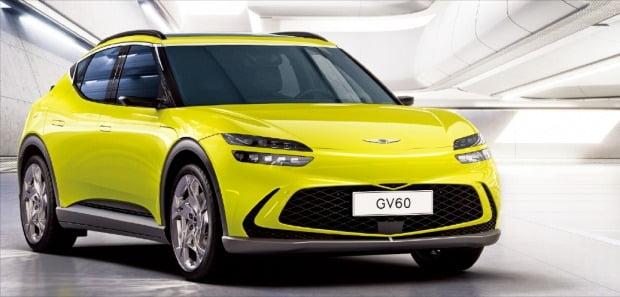 미래에서 온 역동성…제네시스 전기차 'GV60' 공개