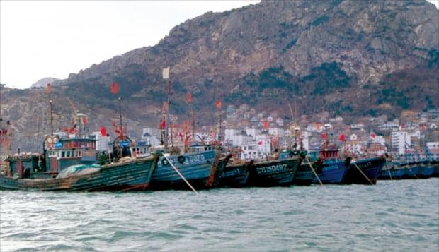 재당신라인들과 일본인들이 출항했던 산동성 석도진항.