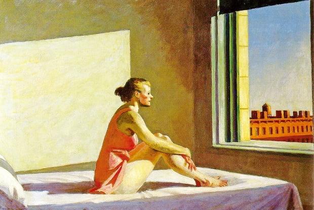 에드워드 호퍼, 아침태양, 1952년