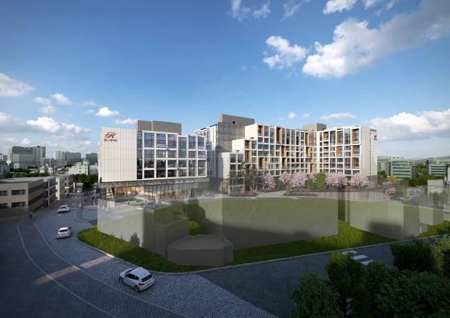 현대건설의 도시형 생활주택 '힐스테이트 남산'. 출처: 현대건설