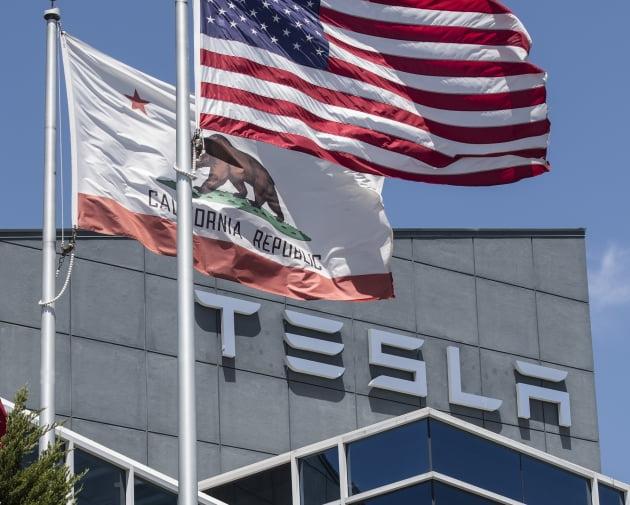 (사진) 미국 캘리포니아주 프리몬트의 테슬라 공장. /UPI 연합뉴스
