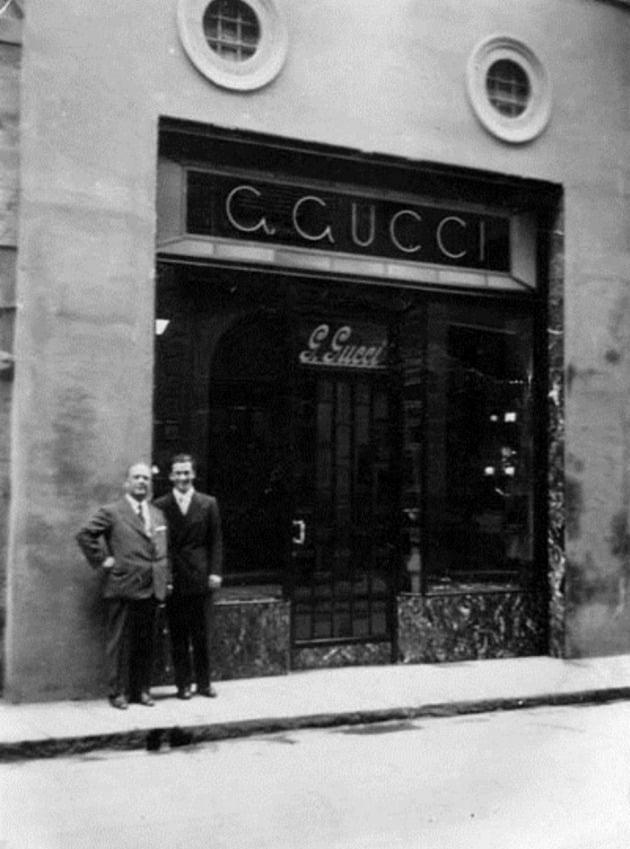 (사진) 구찌 창립자 구치오 구치(왼쪽)와 아들 로돌프 구치. /구찌 제공