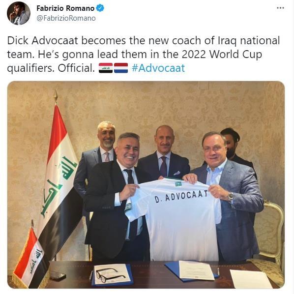 아드보카트, 이라크 지휘봉…벤투호와 월드컵 최종예선 대결