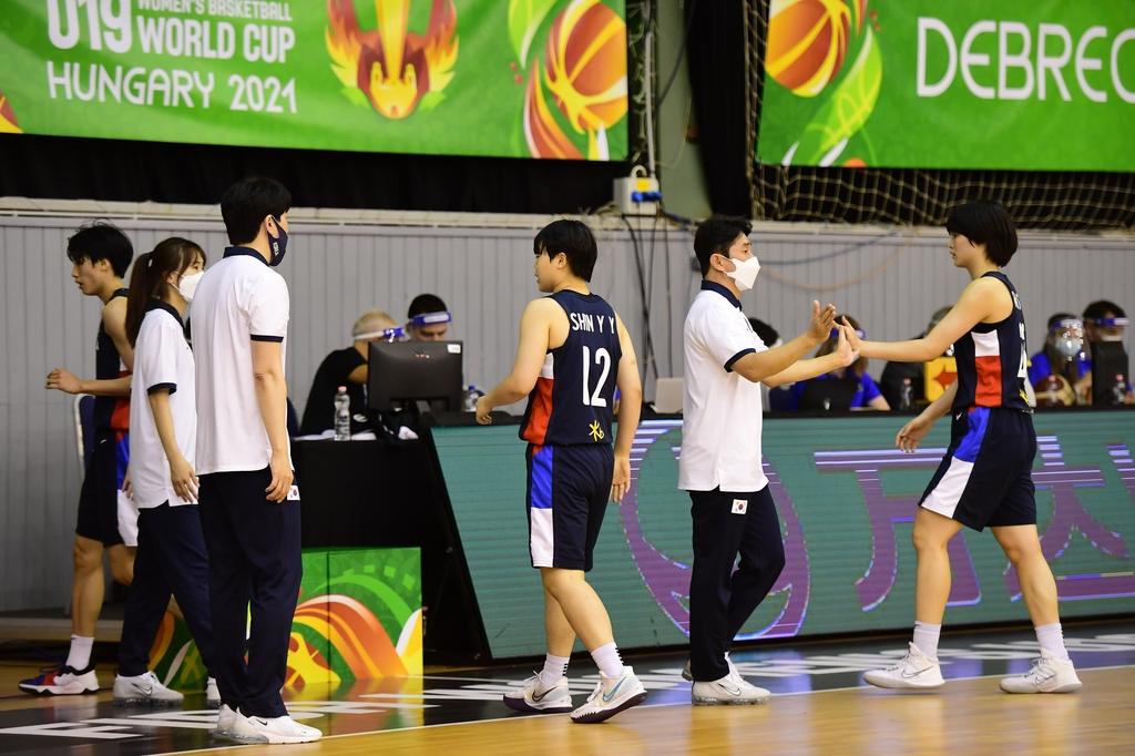 한국, U-19 여자농구 월드컵 첫 승리…선발 전원 두 자릿수 득점