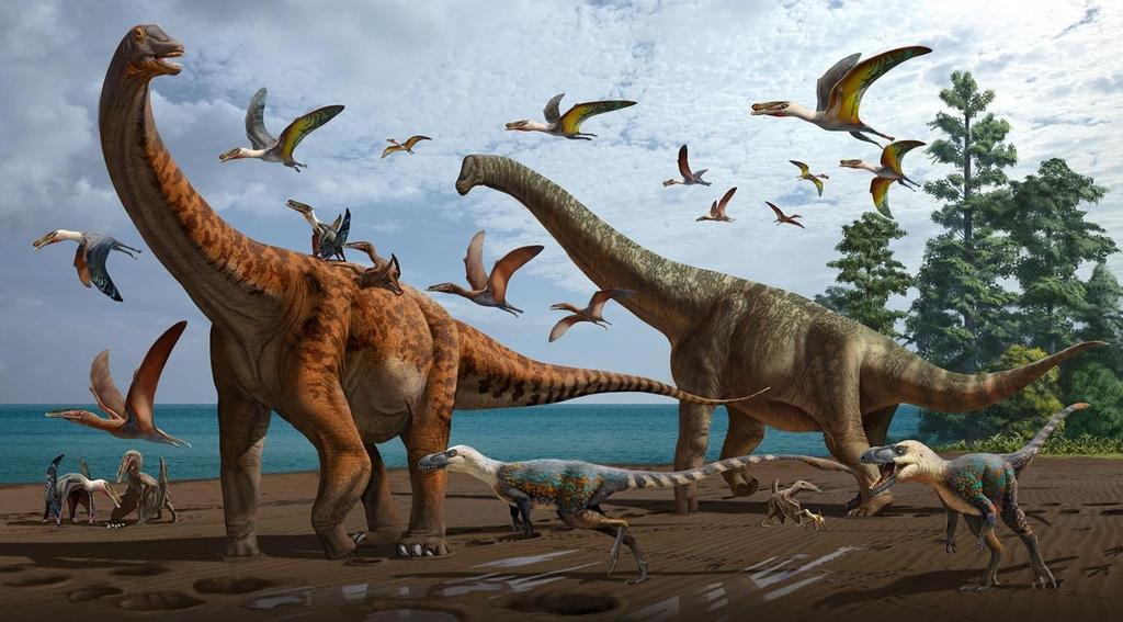 [사이테크 플러스] 중국서 몸길이 17~20m 신종 용각류 공룡 2종 화석 발견