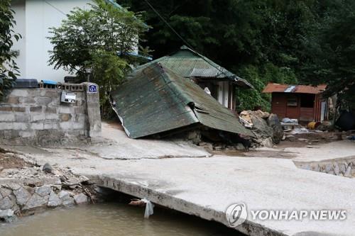 주택 침수·산사태…포항 비 피해 2천여건 잠정 집계
