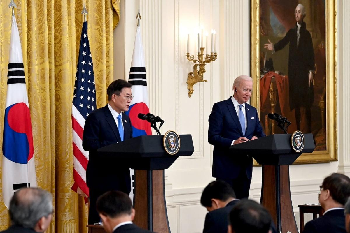 문재인 대통령과 조 바이든 미국 대통령_출처 - NBC News