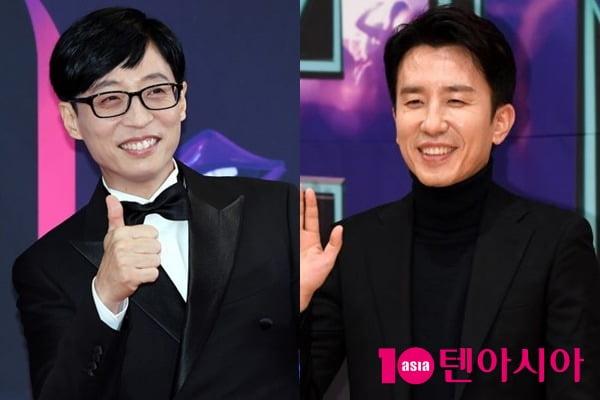 방송인 유재석(왼쪽)과 유희열/ 사진=텐아시아DB