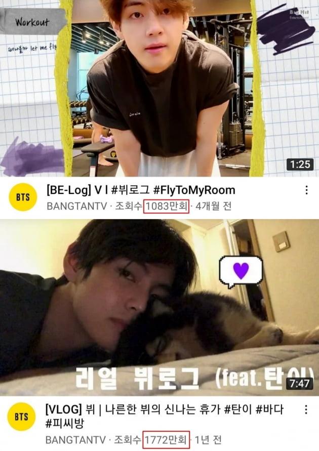 방탄소년단 뷔, 'ONE&ONLY' 韓 최초 브이로그 두번째 '천만 돌파'