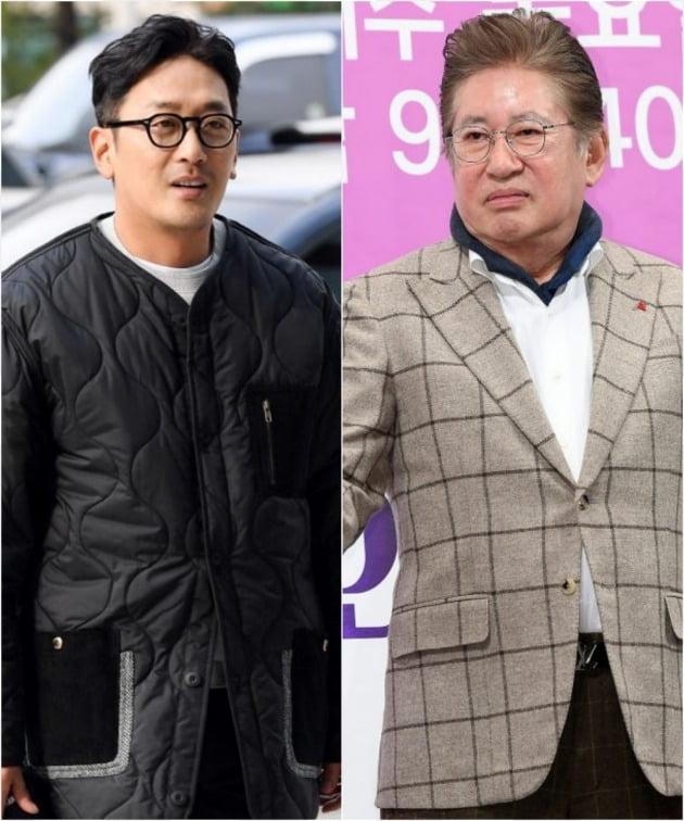 배우 하정우, 김용건./사진=텐아시아 DB