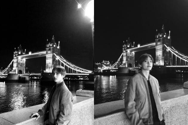 방탄소년단 뷔, 전세계가 런던에 다시 주목하게 한 사진들
