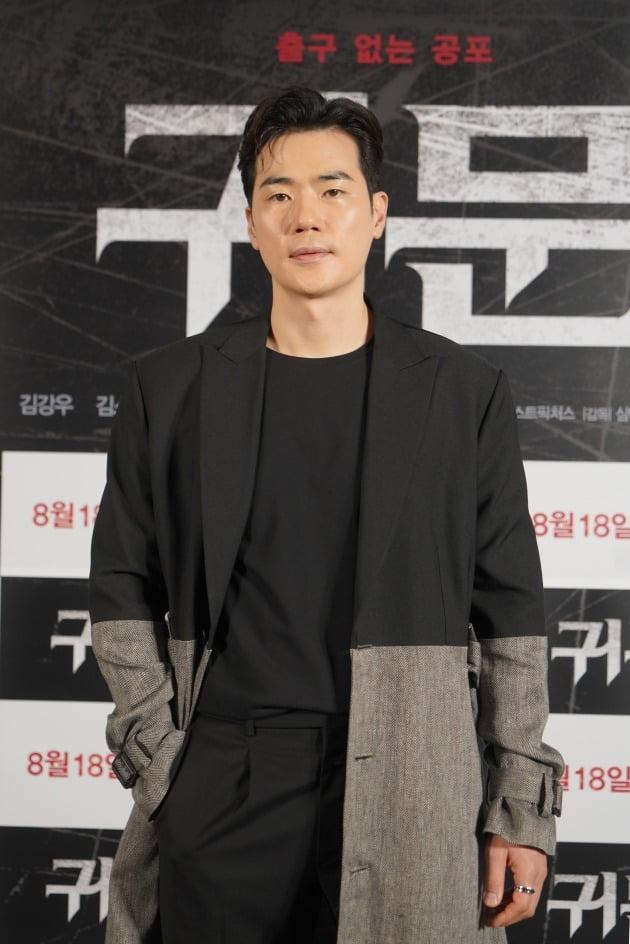 배우 김강우가 3일 열린 영화 '귀문' 언론시사회에 참석했다. / 사진제공=CJ CGV