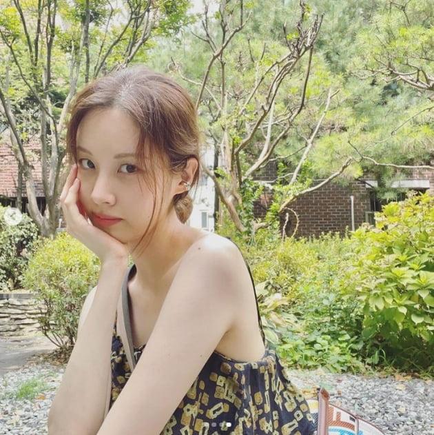 서현, 태양아래 반사되는 예쁨...청량美가 물씬[TEN★]