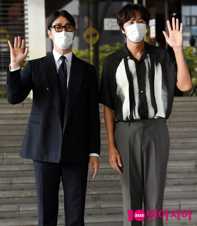 [TEN 포토] 차승원-이광수 '영화 '싱크홀'의 주역들'