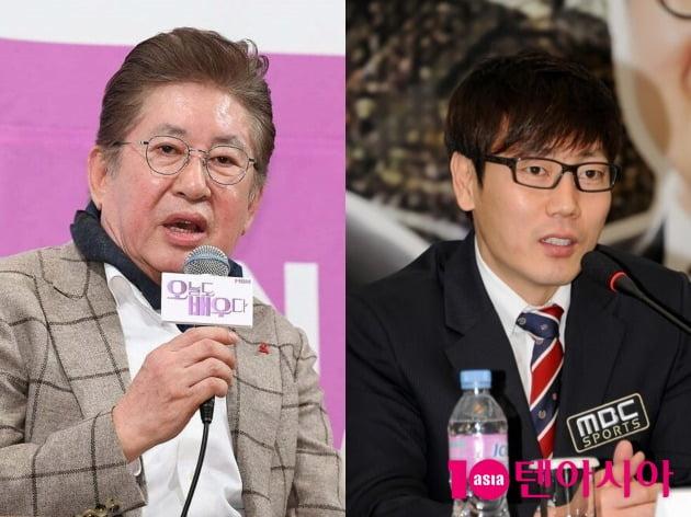 배우 김용건(왼쪽), 전 축구선수 송종국. /사진제공=텐아시아DB, MBC